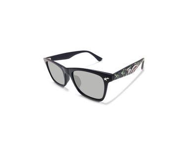 Jazzmyride SCB37 Black Reflective Wayfarer Polarized Sunglasses-Green Camouflage Shark