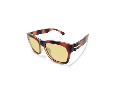 Jazzmyride CDB6 Reflective Wayfarer Polarized Sunglasses-Dust Brown