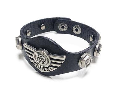 Jazzmyride Leatherette Men's Wrist Band Bracelet-Brave Diesel