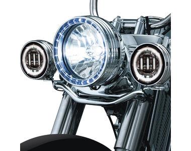 XF6243E 3LED Aux Fog Lamp Set of 2 For Harley Davidson-Chrome