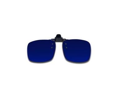Jazzmyride K12B Blue Reflective Clip-On Polarized Sunglasses