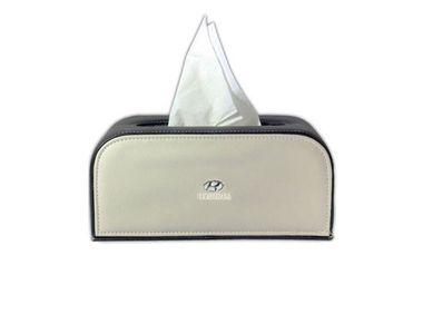 Speedwav Custom Design Car Tissue Box Black & Beige -Hyundai