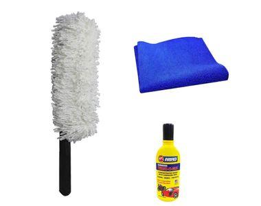 Speedwav Car Cleaning Kit Long Microfiber Duster + Abro Shampoo + Sponge