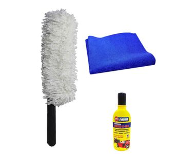 Speedwav Car Cleaning Kit Long Microfiber Duster + Abro Shampoo + Cloth