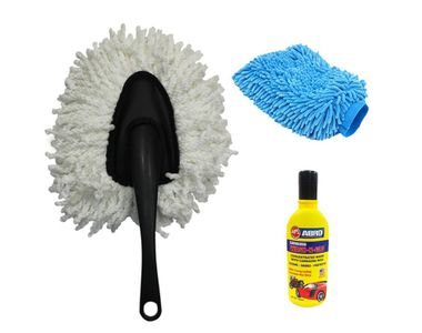 Speedwav Car Cleaning Kit Small Microfiber Duster + Glove + Abro Shampoo