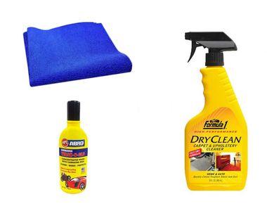 Formula 1 Car Cleaning Kit Upholstery 592ml+Microfiber Cloth+Abro Shampoo