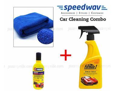 Speedwav Car Cleaning Kit Formula1 Spray Wax Polish+Microfiber Cloth+Shampoo