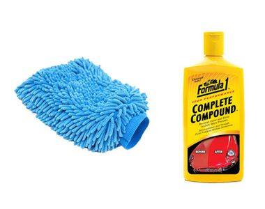 Speedwav Car Cleaning Kit Formula1 Complete Compound 473ml+Microfiber Glove