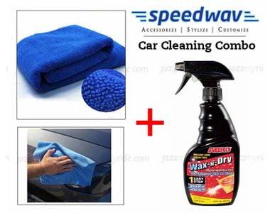 Speedwav Car Cleaning Kit Abro 1 Step Wax & Dry WD-473 + Microfiber Cloth