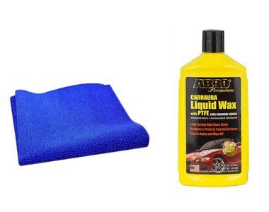 Abro Liquid Wax LW900 (473ml)+ Speedwav Microfiber Cloth