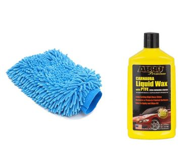 Speedwav Car Cleaning Kit Abro Liquid Wax LW900 (473ml)+ Microfiber Glove