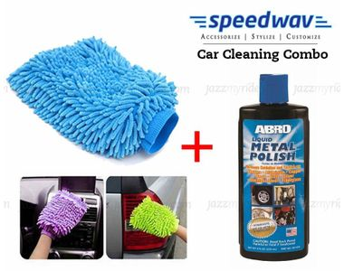 Speedwav Car Cleaning Kit Abro Metal Polish MP434(236ml)+ Microfiber Glove