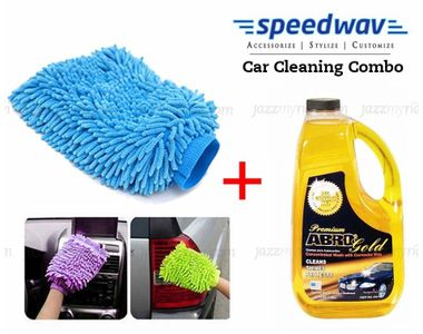 Speedwav Car Cleaning Kit Abro Gold Shampoo CW990(1.82L)+ Microfiber Glove