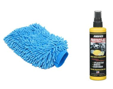 Speedwav Car Cleaning Kit Abro Protect All Lemon PA512(269ml)+Microfiber Glove