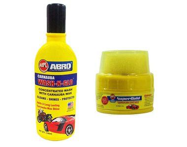 Speedwav Car Cleaning Kit Abro Shampoo + Super Gold Wax Polish