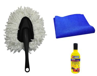 Speedwav Bike Cleaning Kit Microfiber Duster Small + Cloth + Abro Shampoo