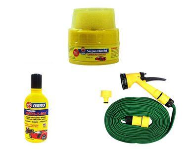 Speedwav Bike Cleaning Kit Water Spray Gun + Abro Shampoo + Super Gold Wax