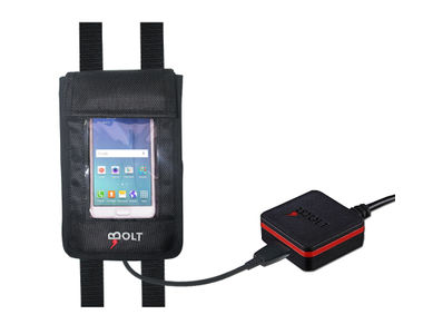 Bolt 2-in-1 AntiTheft Bike Mobile Charger with Mobile Holder