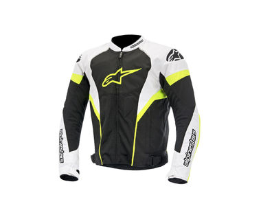 Alpinestars T-GP Plus R Air Bike Riding Jackets-Black, White & Neon Size:42