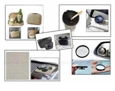 Combo of Speedwav Car Dining Tray-Beige+ Anti-Slip Mat-Beige+ 3R Blind Spot Mirror+ Car Trash/Dust Bin & Cigarette Ashtray