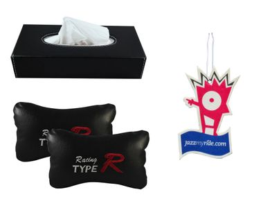 Combo of Speedwav Tissue Holder Black+TypeR Pillow+Jazzy Hanging Perfume