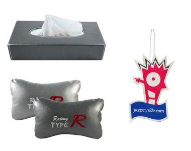 Combo of Speedwav Tissue Holder Grey+TypeR Pillow Grey+Jazzy Hanging Perfume