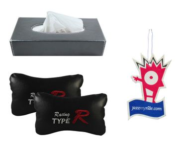Combo of Speedwav Tissue Holder Grey+Type R Pillow Black+Jazzy Perfume
