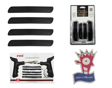 ipop Black Door Guard+Black Car Bumper Guard+Tyre Punture Kit+Jazzy Perfume