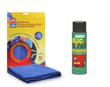 ABRO Bug and Tar remover BT-422 (340 gm)+Microfiber Cloth