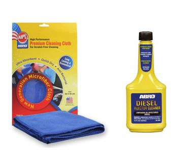 ABRO Diesel Injector Cleaner DI-502 (354 ml)+Microfiber Cloth