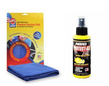 ABRO Protect All-Lemon PA-312 (120ml)+Microfiber Cloth