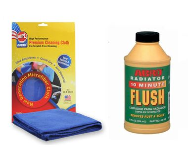 ABRO Radiator Flush RF-506 250ml+Microfiber Cloth