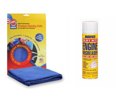 ABRO Super Heavy Duty Engine De Greeser DG-200 (454 gm)+Microfiber Cloth