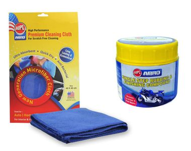ABRO Rubbing Compound-Mach. RCM (100 gm)+Microfiber Cloth