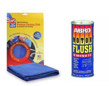 ABRO Motor Flush MF-390 (443 ml)+Microfiber Cloth