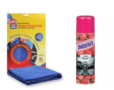 ABRO Car Dashboard Polish DP-629-Cherry (220 ml)+Microfiber Cloth