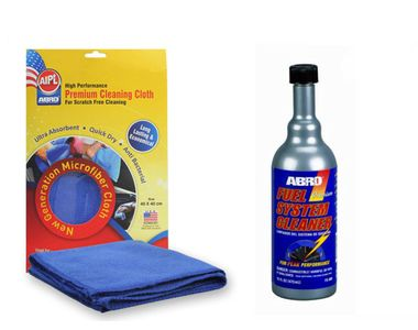 ABRO Fuel System Cleaner FS-900 473 ml+Microfiber Cloth