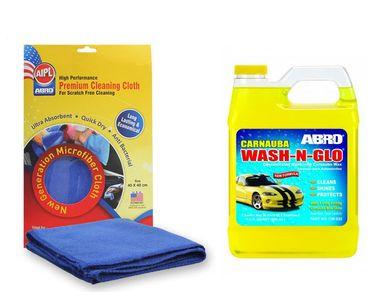ABRO Wash-N-Glow CW-928 (946 ml)+Microfiber Cloth