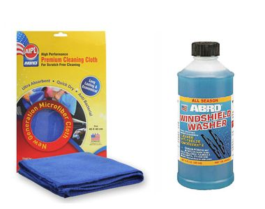 ABRO Windshield Washer Cleaner And Anti-freeze ww-100 50 ml+Microfiber Cloth