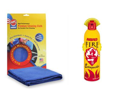 ABRO Car Fire Extinguishers FE-911 400 ml+Microfiber Cloth