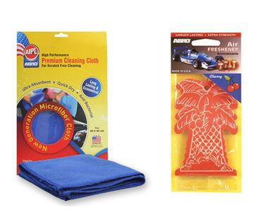 ABRO Car Card Air Freshener AF-457-CH - Cherry+Microfiber Cloth