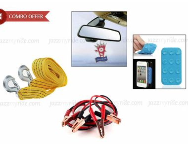 Speedwav Car Tow Cable+ Jumper Cable+ Mobile Suction Pad+Jazzy Perfume