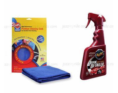 Combo of Meguiars Quick Detailer Mist & Wipe-473ml+Abro Microfiber Cloth