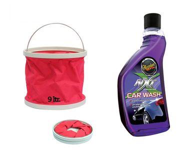 Meguiars NXT Generation Car Wash-532ml+Foldable Water Bucket