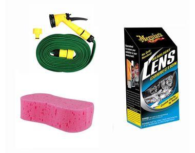 Meguiars Headlight Correction+Magic Sponge+Spray Gun