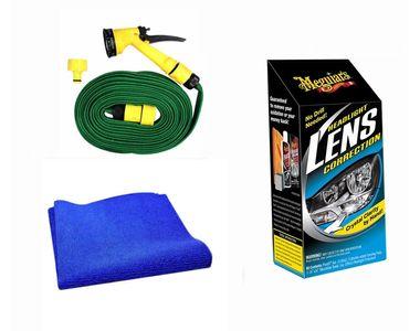 Meguiars Headlight Correction + Microfiber Cloth + Spray Gun