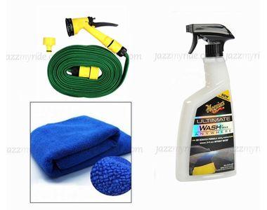 Meguiars Wash & Wax anywhere Trigger-828ml + Microfiber Cloth + Spray Gun