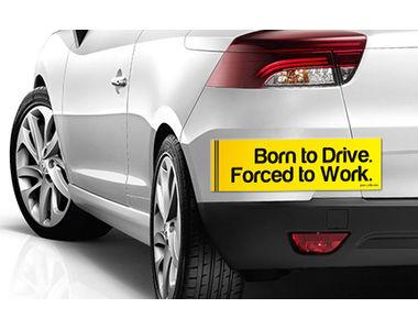 Speedwav Quirky Car Bumper Sticker-BORN TO DRIVE