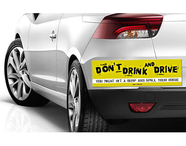 Speedwav Quirky Car Bumper Sticker-STOP DRINK N DRIVE
