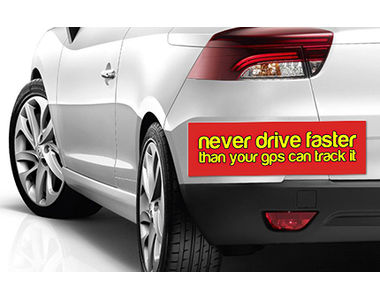 Speedwav Quirky Car Bumper Sticker-NEVER DRIVE FASTER